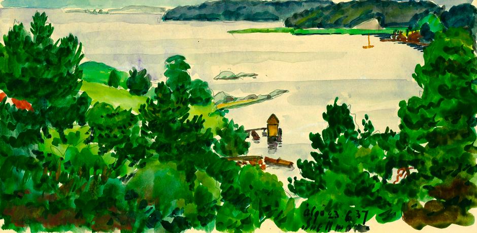 Utsikt från Trappstigen 6 över Gåsö och Älgösund